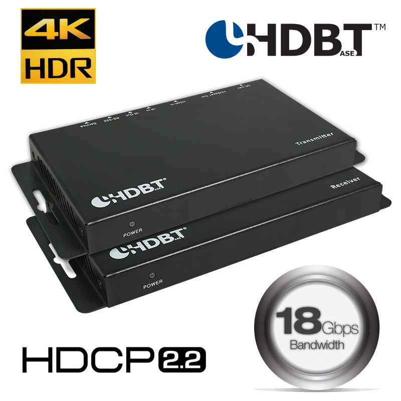 HDbaseT 4K/60hz HDR Extender over CAT6 with IR